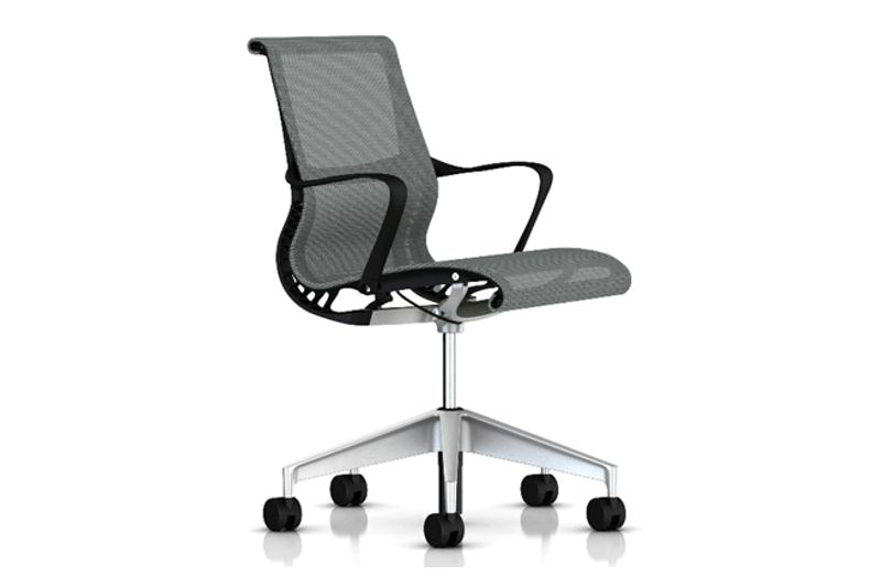 Herman Miller Setu stoel grijs